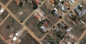 Vista do Centro Espírita, na Rua Manágua, retirada do Google Earth