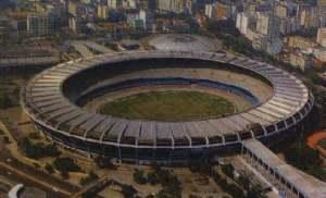 Estádio do Maracanã, no Rio de Janeiro. Um templo do Futebol.