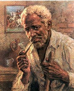 Orozimbo gosta mermo é de pitá seu cachimbo e ficá oiando preste mundo doido, gente.