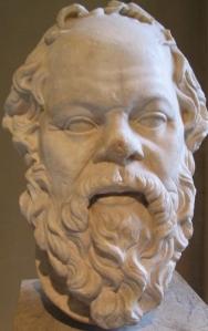 Sócrates. Seu pensamento até hoje influi na humanidade.