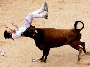 Às vezes uma gripe deixa a gente tão quebrado como aquele que é pegado na marrada do touro.