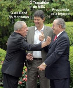 Com esta foto, Lulão Trouxão, você perdeu metade de seu eleitorado. Se continuar como vai, perderá tudo. Ah, sim, o Mensalão já é um câncer que lhe corrói a vida política. Toma tento, idiota!