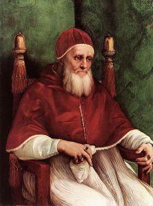 Papa Júlio II. Apesar de a Santa Madre Igreja impor o celibato para os padres, vários papas, como este Júlio II, tiveram dezenas de amantes. A mentira é sacramentada na Igreja que diz representar Aquele que a combateu tenazmente.