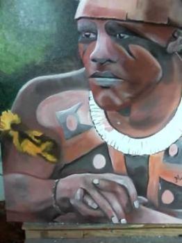 Os índios brasileiros sempre se pintam quando vai haver uma solenidade na taba.