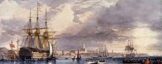 HMS Victory, um exemplo da poderosa armada inglesa dos tempos de Dom Pedro.