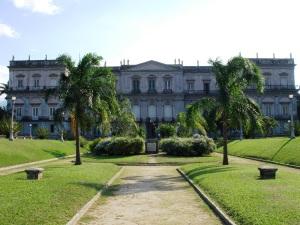 Eis o Palácio da Quinta da Boa Vista, hoje, museu, no Rio de Janeiro.