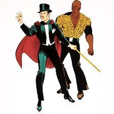 O mágico Mandrake e seu companheiro Lotar.