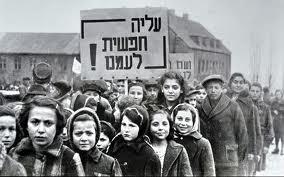Imigrantes judeus fugindo da guerra na Europa.