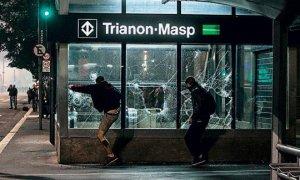 Baderneiros, sem qualquer vínculo com o ideal estudantil, aproveitam para praticar atos de vandalismo reprovável.