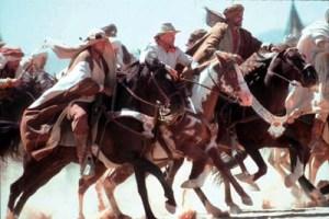 Hidalgo é o cavalo malhado montado por um caubói americano. Sua história, dizem, é verdadeira.
