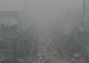 E assim vivem os moradores de cidades como Tóquio, São Paulo etc... Sob intensa poluição atmosférica.