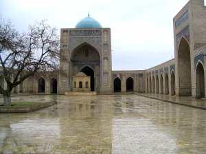 Belíssima construção em Samarkand, Uzbequistão.
