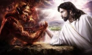 Jesus ainda está na mesa, numa luta de vida ou morte para salvar a humanidade de si mesma.
