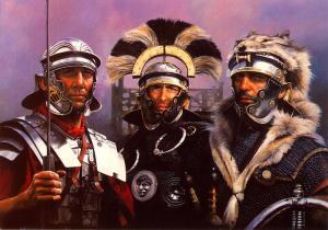 Os mercenários trajavam-se com uniformes muito parecidos com os dos romanos.