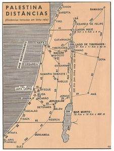 Eis um dos muitos mapas que nos mostram a Palestina no tempo de Yehoshua.
