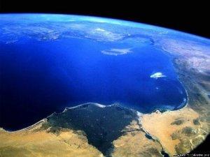 Uma linda foto do Oceano batida do espaço.