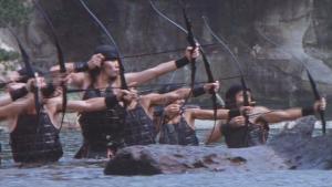 Arqueiros assírios. Eles eram temidos por sua destreza no manejo do arco e flecha.