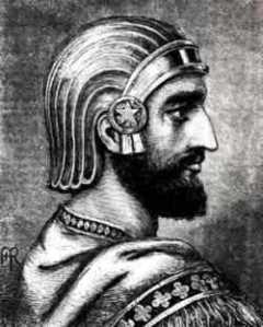 Um guerreiro assírio vestia-se assim. Eram tão ou mais violentos que os romanos.