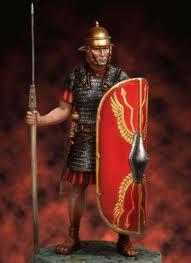 O legionário romano e seu temido pillum.