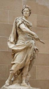 Estátua de Júlio César. Esta Forma já estava dentro do mármore?