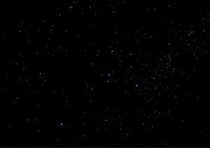 O Espaço intergaláctico é negro como nesta foto. Só que aqui ainda se vêem galáxias como se fossem estrelas...