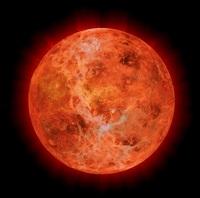 A Terra em formação, já como uma grande bola incandescente.