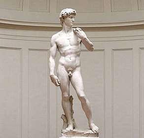 Michelangelo tirou de dentro da pedra a escultura de David.