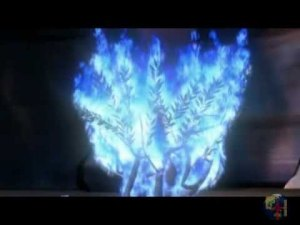 E o fogo que surgiu era azul e intenso...