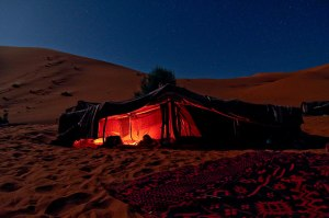 Em tendas assim eles passaram várias noites no deserto.