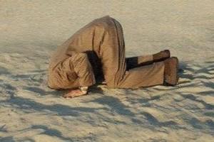 Enfiar a cabeça num buraco, como faz a avestruz, não deixa ver a saída.