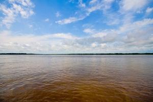 Eis o rio Amazonas. Já pensou tudo isto transformado em areia?