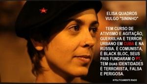 A candidata a futura substituta da Aloprada do Planalto. Pena que não vai ter mais país para ela esculhambar...