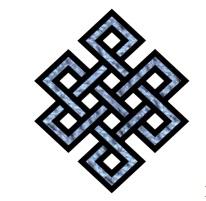 O Bel-Beu, símbolo budista que simboliza o nó infinito, que não tem princípio nem fim e no qual todos estamos aprisionados, humanos ou não; animais, vegetais e minerais.