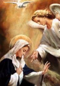 O Arcanjo Gabriel ordena a Míriam que vá visitar sua prima Izabel.