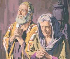 Isabel e Zacarias eram velhos e já não mais podiam gerar filhos. Mas ela engravidou poque assim o quis o Criador.