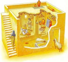 Uma casa padrão hebraica.