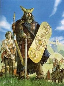 Os guerreiros celtas foram grandes combatentes e resistiram bravamente aos conquistadores romanos.