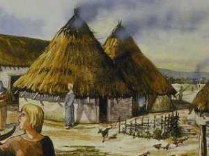 Assim eram as casas da tribo celta onde estavam Primus e Issa.
