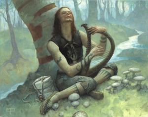 O Bardo pesquisava os segredos do Som e seu emprego na vida celta.