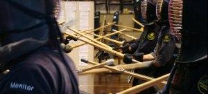 Treinamento do manejo do ken-jutsu. Seus movimentos eram utilizados também  na esgrima com a espada samurai.