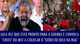 Lula está desesperado. O povão já não mais quer abraçá-lo, como quando saiu do Palácio do Governo e se atirou nos braços daqueles que traía à sorrelfa. Agora, só lhe resta os idiotas camisas vermelhas...