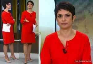 Sandra Annenberg, expoente da Comunicação, mostrando vários momentos em que exercia esta Arte diante das Câmeras da Rede Globo de TV.
