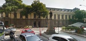 Colégio Pedro II, na Av. Marechal Floriano Peixoto. Era uma honra estudar aqui.