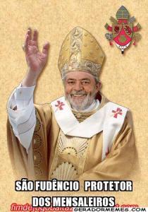 Lula conseguiu ser beatificado. E conseguiu aliviar o peso da mão da Justiça sobre os mensaleiros como São Fudêncio, o beato.