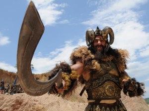 Eis o gigante Golias, como é mostrado em filmes atualmente.