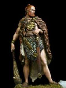 Os guerreiros celtas nunca se separavam de suas armas, mesmo em tempos de paz.