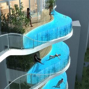 Apartamentos de luxo com piscina privativa.