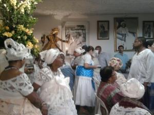 O salão do Terreiro de Mãe Menininha de Gantuá.