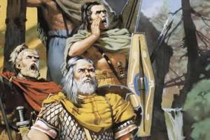 Heimirich e Hrodulf, os chefes da tribo germana tinham esta aparência..