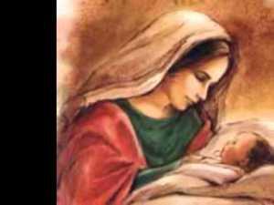 A Senhora era mãe zelosa.